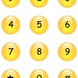 Numbers buttons — Stockvectorbeeld