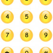 Numbers buttons — Stock Vector #2714570