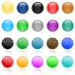Set of vector website button - Stock Vector