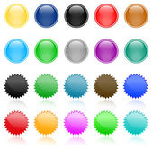 Set of vector website button — Stock Vector