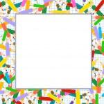Crayons Frame — Stock Vector