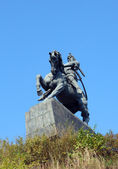 Salavat yulaev monument in ufa russia — Stock Photo