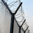 Fence with barbed wire — Stock Photo #2888052