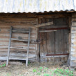 Old abandoned wooden shed — Stock Photo