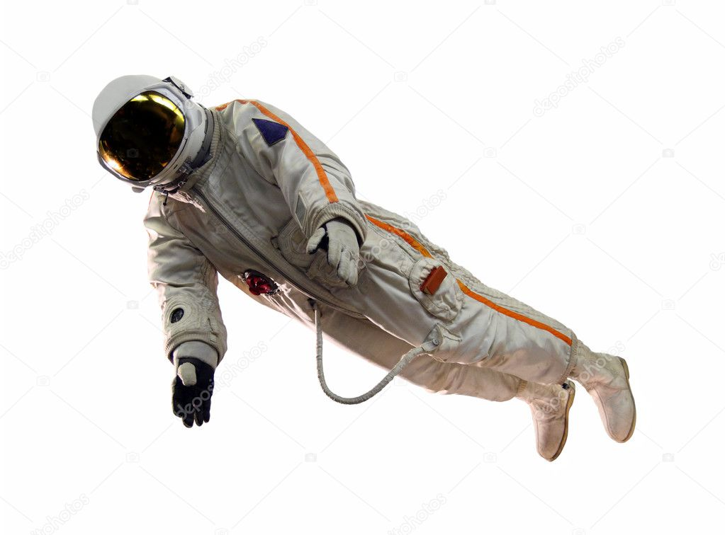 Old russian astronaut suit isolated on white — Stock Photo #2888614