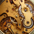 Old watch rusty gear macro — Stock Photo