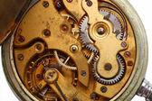 Macro de engrenagem enferrujada velho relógio — Fotografia Stock