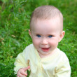 Happy smiling baby in grass — Stock Photo #2939140