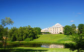 Palace on hill in Pavlovsk park — Stock Photo