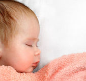 Newborn baby sleeping — Stock Photo