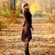 Girl in autumn park - Stockfoto