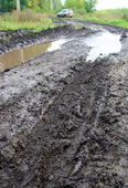 Mud dirty road — Stock Photo