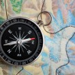 Compass on geography map — Stock Photo #3206514