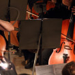 Stock Photo: Two violoncello in orchestra
