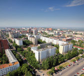 Top view on the panorama of city — Stock Photo
