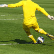 Soccer football goalkeeper — Stockfoto