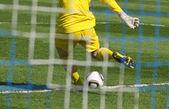 Soccer football goalkeeper — Stock Photo