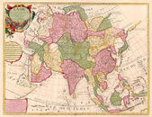 Ancient map of Asia — Stock Photo