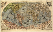 Map of ancient world — Stock Photo