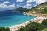 Adriatic seacoast near Sveti Stefan, Montenegro — Stock Photo