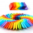 Stock Photo: Origami rainbow 3d