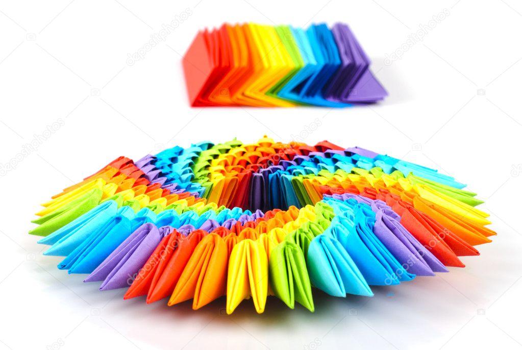 すべての折り紙 折り紙ブロック : 3D Origami White Paper