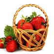 Foto Stock: Strawberries in basket