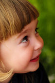 Little girl feel shy — Stock Photo