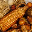 Stock Photo: Basketry bottles