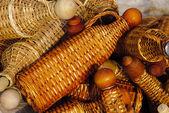 Basketry bottles — Stock Photo