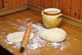Cooking dough — Stock Photo