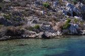 Deniz ve kayalar inturkey — Stok fotoğraf