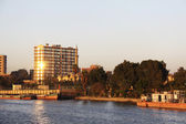 Sunset Cairo from the river Nile bridge — Stock Photo