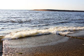Sky, sail and water in the sea gulf — Zdjęcie stockowe