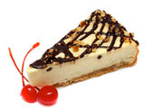 Gourmet slice of cheesecake — Stock Photo