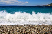 Beach on Samos Island, Greece — Stock fotografie