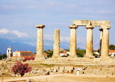 Apollon temple in corinth — Stock Photo