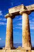 Apollon temple in corinth — Stock Photo