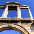 Hadrian's Arch (also known as Hadrian's Gate) was constru — Stock Photo