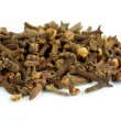 Fragrant clove on white — Stock Photo