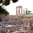 Archaeological Dig Site at Apollo Temple, Corinth, Greece. — Stock Photo #3559693