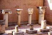 Arkeologisk utgrävning webbplats på apollo templet, Korinth, Grekland. — Stockfoto