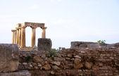 Temple d'apollon à corinthe — Photo