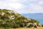 Costa de la mar bella en grecia — Foto de Stock