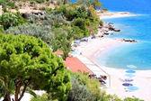 Beautiful sea coast in Greece — Stock Photo