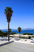 Traditional architecture of Oia (Santorini island, Greece) — Stock Photo