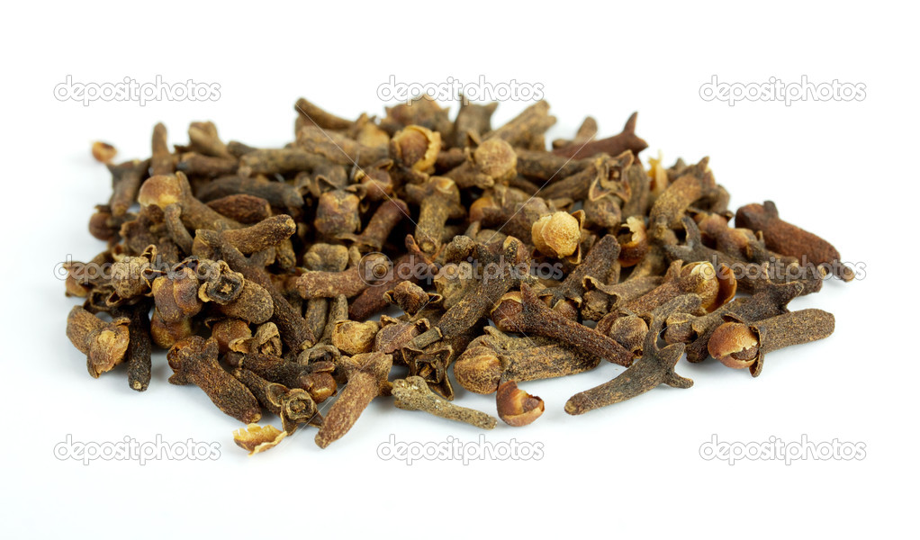 Fragrant clove on white background — Stock Photo #3559148
