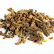 Stock Photo: Fragrant clove on white