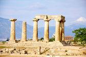 храм аполлона в коринфе — Стоковое фото