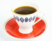 Coffee cup on white background — Stock Photo